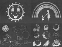 Grupo de desenhos do quadro Imagens de Stock Royalty Free