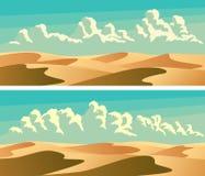 Grupo de deserto arenoso das bandeiras horizontais ilustração stock