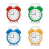 Grupo de despertadores coloridos Foto de Stock Royalty Free