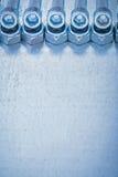 Grupo de detalles nuts del tornillo y del perno roscados encendido Fotografía de archivo libre de regalías