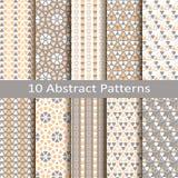 Grupo de dez testes padrões abstratos ilustração royalty free
