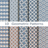 Grupo de dez testes padrões geométricos Fotos de Stock Royalty Free