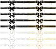 Grupo de dezesseis curvas do feriado com afiação do ouro Fotos de Stock