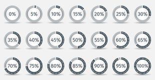 Grupo de diagramas da porcentagem do círculo para o infographics Imagens de Stock Royalty Free