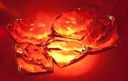 Grupo de diamantes brillantes Foto de archivo libre de regalías