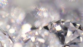 Grupo de diamantes que giran almacen de metraje de vídeo