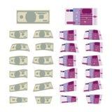 Grupo de dinheiro Foto de Stock Royalty Free