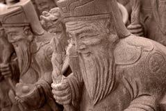 Grupo de dios de piedra chino Fotografía de archivo