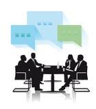 Grupo de discusión del negocio stock de ilustración