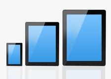 Grupo de dispositivos de comunicação modernos Foto de Stock