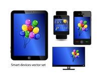 Grupo de dispositivos espertos Imagem de Stock Royalty Free