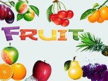 Collge de la fruta imagen de archivo libre de regalías