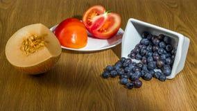 Grupo de diversa fruta y verdura Imagen de archivo libre de regalías