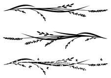 Grupo de divisores com arroz ilustração stock