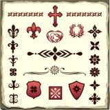 Grupo de divisores e de decorações do texto Imagens de Stock Royalty Free