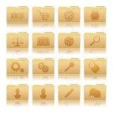 Grupo de dobradores com símbolos Ilustração Stock