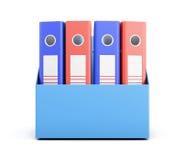 Grupo de dobradores em uma caixa isolada no fundo branco renderi 3D Imagem de Stock