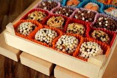 Grupo de doces feitos de frutos secados Fotografia de Stock