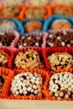Grupo de doces feitos de frutos secados Imagens de Stock