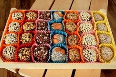 Grupo de doces feitos de frutos secados Imagens de Stock Royalty Free