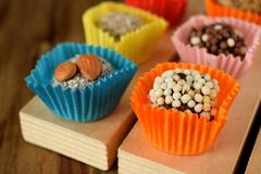 Grupo de doces feitos de frutos secados Foto de Stock