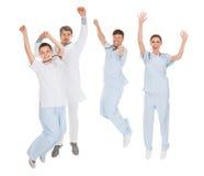 Grupo de doctores felices Imagen de archivo libre de regalías