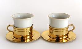 Grupo de dois copos da porcelana imagem de stock royalty free