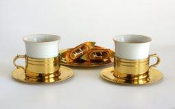 Grupo de dois copos da porcelana imagens de stock royalty free