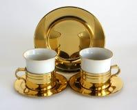 Grupo de dois copos da porcelana fotos de stock royalty free