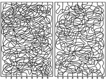 Dois labirintos Foto de Stock Royalty Free