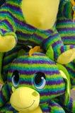 Grupo de Dragon Stuffed Animals imagem de stock royalty free
