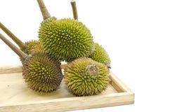 Grupo de Durian na madeira lisa Fotografia de Stock Royalty Free