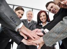Grupo de ejecutivos sonrientes felices fotografía de archivo