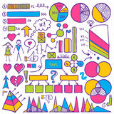 Grupo de elemento de Infographic Imagem de Stock
