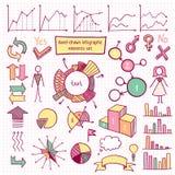 Grupo de elemento de Infographic Imagem de Stock Royalty Free