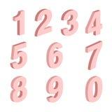 Grupo de elemento do formulário de dez números zero nove, projeto do número ilustração do vetor