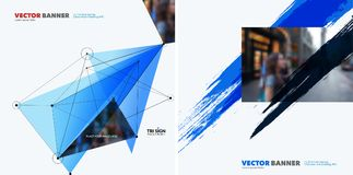Grupo de elementos abstratos do projeto do vetor para o molde gráfico Imagens de Stock Royalty Free