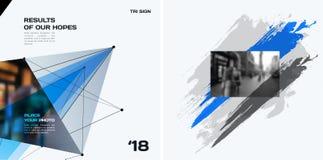 Grupo de elementos abstratos do projeto do vetor para o molde gráfico Fotografia de Stock Royalty Free
