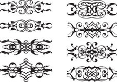Grupo de elementos clássico ornamentado Foto de Stock