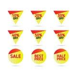 Grupo de elementos da bandeira Coleção da etiqueta do disconto, oferta especial Imagens de Stock Royalty Free