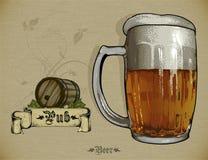 Grupo de elementos da cerveja Foto de Stock Royalty Free