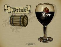 Grupo de elementos da cerveja Imagem de Stock Royalty Free