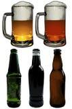 Grupo de elementos da cerveja Fotos de Stock