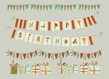 Grupo de elementos da festa de anos do vetor Eps 10 Imagens de Stock Royalty Free