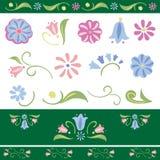 Grupo de elementos da flor do vetor Imagens de Stock Royalty Free