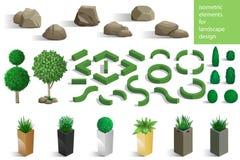 Grupo de elementos da paisagem Fotografia de Stock