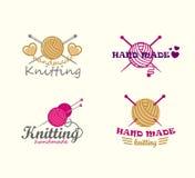 Grupo de elementos de confecção de malhas do logotipo Foto de Stock