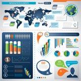 Grupo de elementos de Infographic.  Gráficos da informação Foto de Stock Royalty Free
