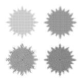 Grupo de elementos de intervalo mínimo abstratos do projeto Forma abstrata da estrela Ilustração do vetor ilustração stock