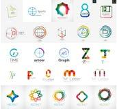 Grupo de elementos de marcagem com ferro quente do logotipo da empresa Foto de Stock